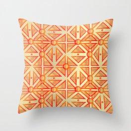 Geometric Goldness Throw Pillow