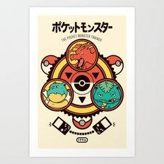 Pocket Monster Trainer Art Print