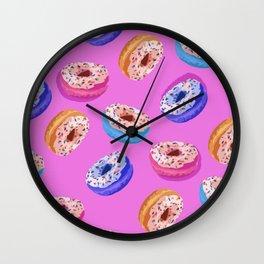 Donuts Party I Wall Clock