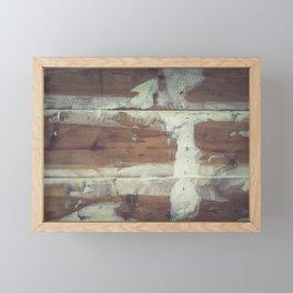 Repaired wooden shipboard Framed Mini Art Print