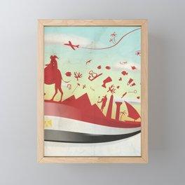 egypt background with flag and symbol Framed Mini Art Print