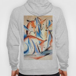 """Franz Marc """"Four foxes"""" Hoody"""