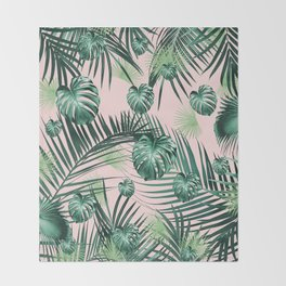 Tropical Jungle Leaves Garden #2 #tropical #decor #art #society6 Throw Blanket