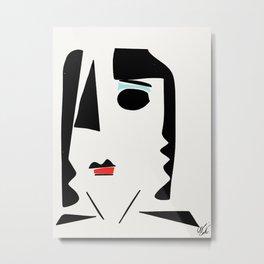 Minimalist  portrait Metal Print