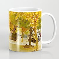 norway Mugs featuring Norway, ME by 163 Design Company