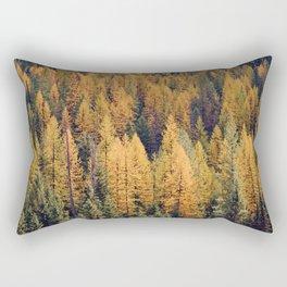 Autumn Tamarack Pine Trees Rectangular Pillow