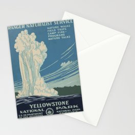 Vintage American WPA Poster - Yellowstone National Park (1938) Stationery Cards