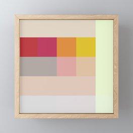 Abstract Multicolor Checkerboard Framed Mini Art Print