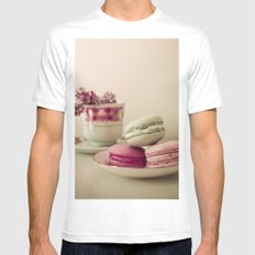 Lilac and Macaroons MEDIUM White Mens Fitted Tee
