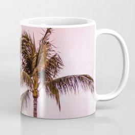 Palm Tree Photography Landscape Sunset Unicorn Clouds Blush Millennial Pink Coffee Mug