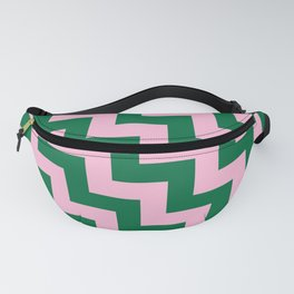 Cotton Candy Pink and Cadmium Green Steps LTR Fanny Pack