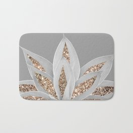 Gray Agave with Gold Glitter #1 #shiny #tropical #decor #art #society6 Bath Mat