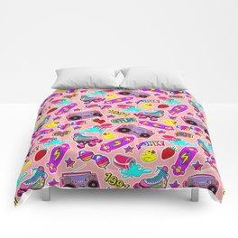 Back to the nineties! Peach Comforters