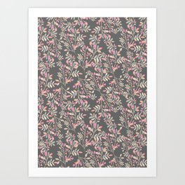 Boho Foliage Multicolor Pattern Art Print