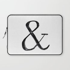 Ampersand watercolor Laptop Sleeve