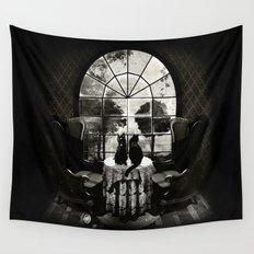 Room Skull B&W Wall Tapestry