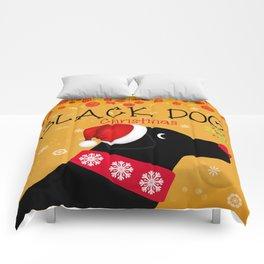 Black Dog Christmas Comforters