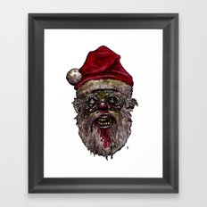 Heads of the Living Dead  Zombies: Santa Zombie Framed Art Print