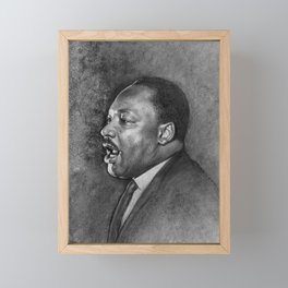 """Dr. King """"I've Been to the Mountaintop"""" (April 3 1968) Framed Mini Art Print"""