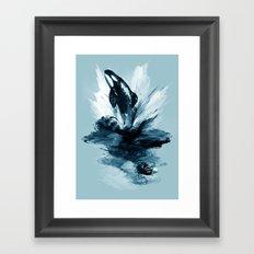 deep blue rising Framed Art Print