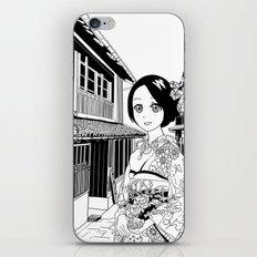 Kimono girl (manga style drawing) iPhone & iPod Skin