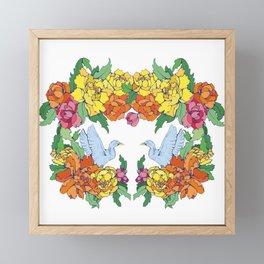 Ducks and Dahlias Framed Mini Art Print