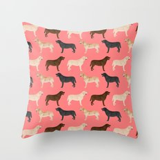 Labrador retriever coats of all colors dog breed pet portraits dogs pets unique pet themed gifts Throw Pillow