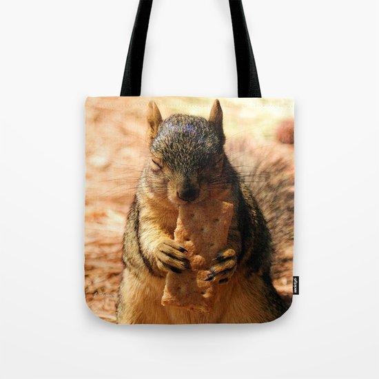 Contented Squirrel. © J. Montague. Tote Bag