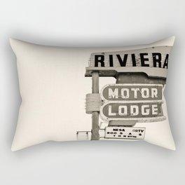 Vintage Neon Sign - Riviera Motor Lodge - Tucson Rectangular Pillow