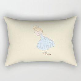 Shy Ballerina 2 Rectangular Pillow