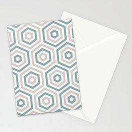 Sea Port ceramic tile pattern Stationery Cards