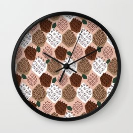 Pommes de pin Wall Clock