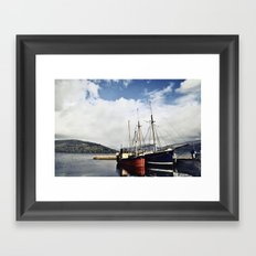 Ships at Inverary Framed Art Print