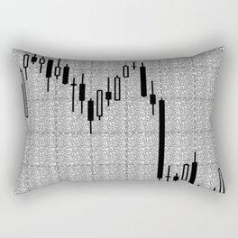 Candlestick, Forex Rectangular Pillow