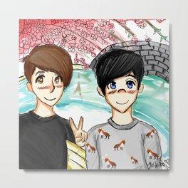 Dan and Phil Japan Metal Print