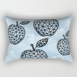 Abstract triangle apples with background Rectangular Pillow