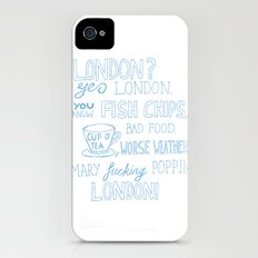 snatch quote blue iPhone (4, 4s) Slim Case