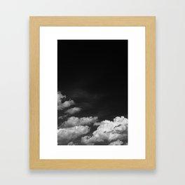 Black sky Framed Art Print