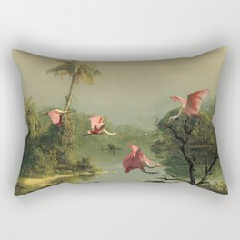 Spoonbills in the Mist Rectangular Pillow