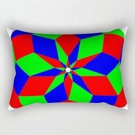 Nonagon RGB Puzzle Rectangular Pillow