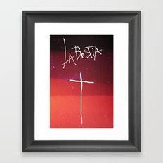 La Bestia Framed Art Print