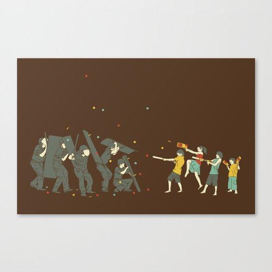 The children are revolting Canvas Print