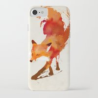 fashion iPhone & iPod Cases featuring Vulpes vulpes by Robert Farkas