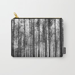 trees in forest landscape - black and white nature photography Carry-All Pouch