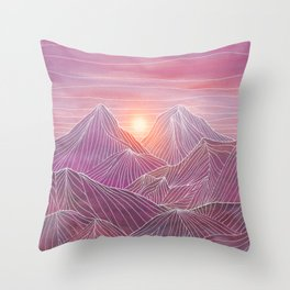 Lines in the mountains 02 Throw Pillow