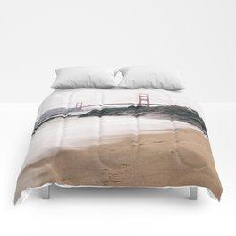 Baker beach Comforters