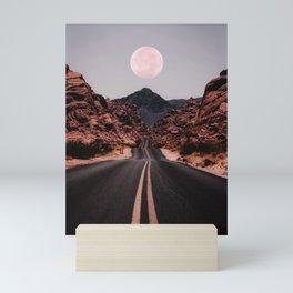 Road Red Moon Mini Art Print