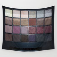 makeup Wall Tapestries featuring Makeup Set by alifart