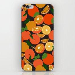 Oranges on black iPhone Skin