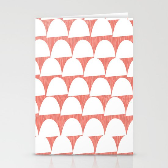 Shroom reverse coral Stationery Cards